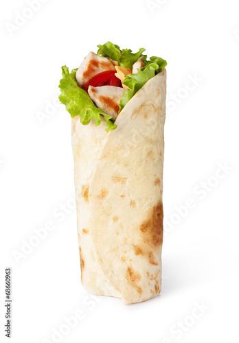 tortilla wrap, fajita