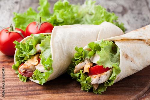 Photo tortilla wrap, fajita