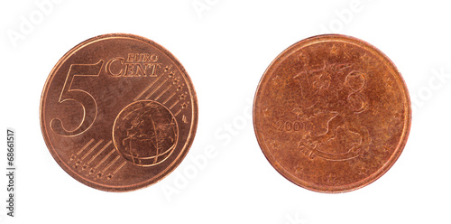 Photo  5 euro cent coin