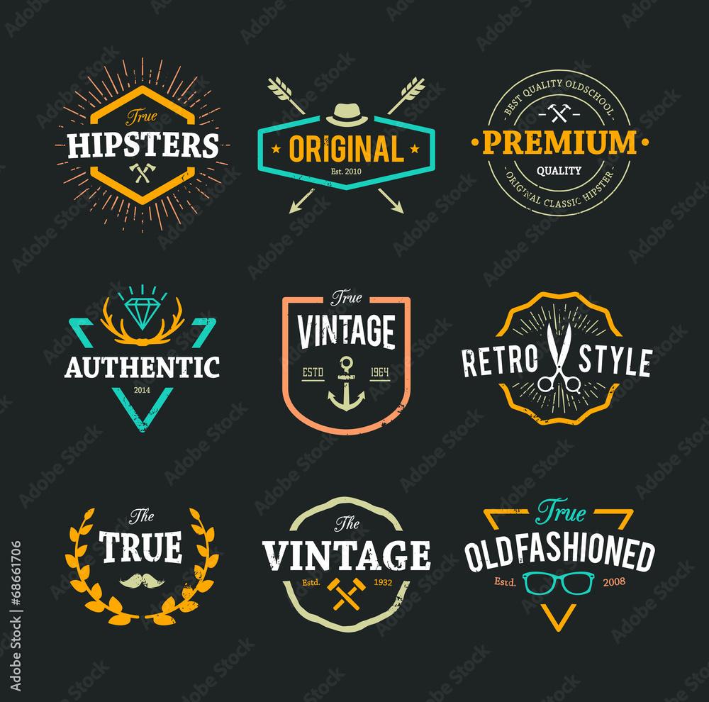 Fototapeta Vector Hipster Emblems