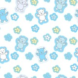 Bears Toys Seamless Pattern