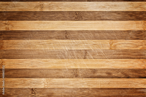 Worn butcher block cutting and chopping board as background Canvas Print