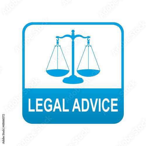 Photo Etiqueta tipo app azul LEGAL ADVICE