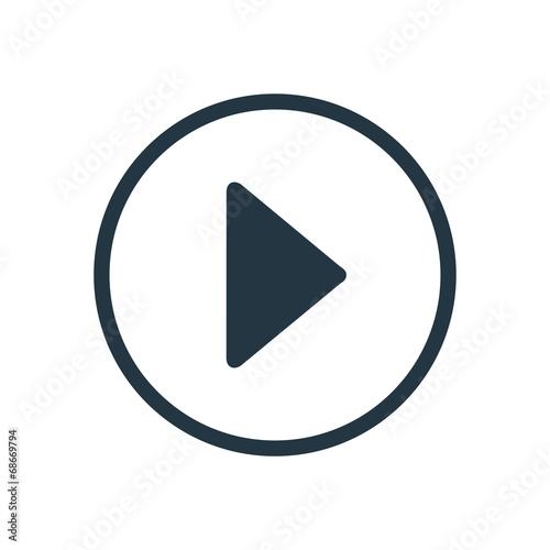 Fotografie, Obraz  play icon.