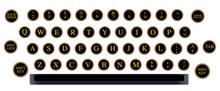 Typewriter Key Layout