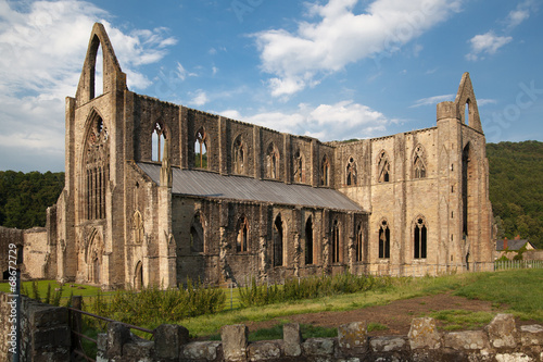 Photo Tintern abbey cathedral ruins. Abbey was established at 1131.