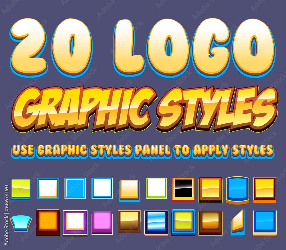 Fototapety, obrazy: 20 Comic Logo Graphics Styles
