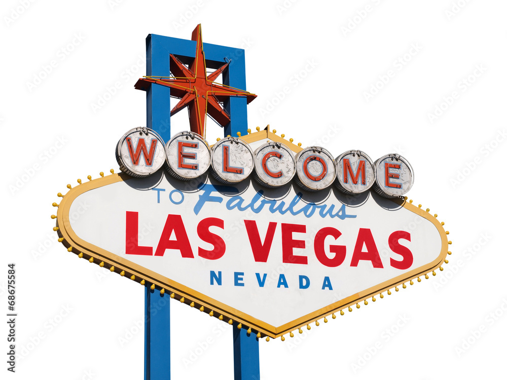 Poster  Welcome to Las Vegas Sign Isolated