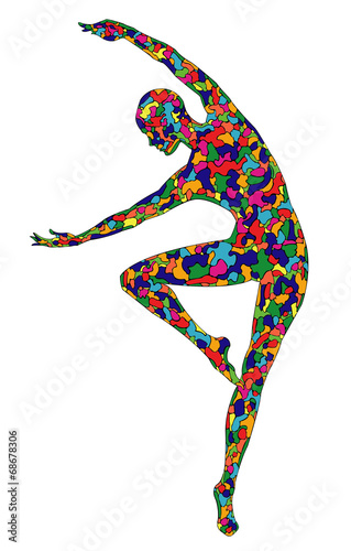 Fotografie, Obraz  silhouette of the graceful girl