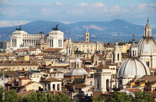 Beautiful panorama of Rome, Italy Canvas Print