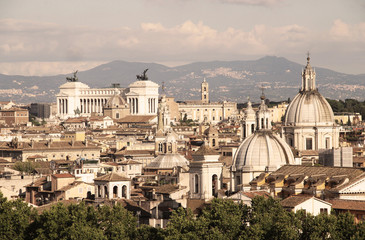 Fototapeta Beautiful panorama of Rome, Italy