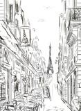 Ulica w Paryżu - ilustracja - 68683367