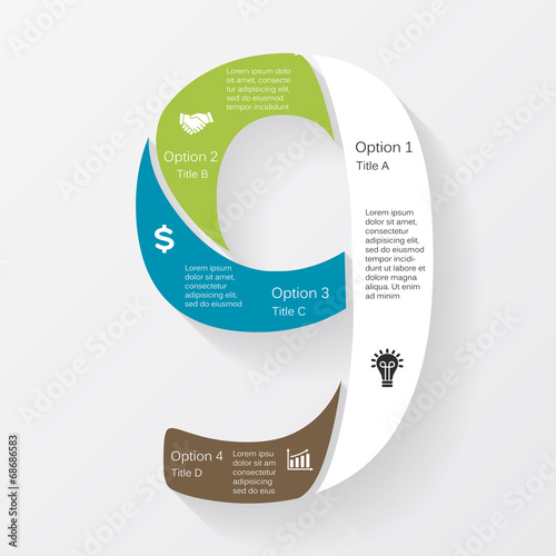 Poster  Vector business infographic, diagram, presentation