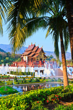 Ho Kham Luang In Chiangmai Province Of Thailand