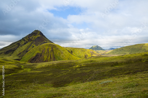 Photo Stands Pale violet Panorama of Icelandic mountains