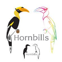Vector Image Of An Hornbill