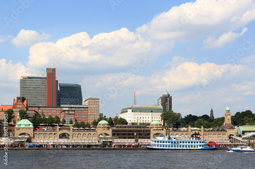 Canvas Print Hamburg - Landungsbrücken
