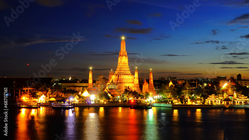 Twilight time of Wat Arun