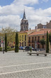 streets and old buildings of the town of Alcala de Henares, Spai