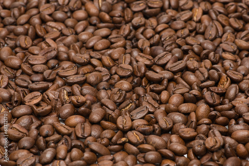 Deurstickers Koffiebonen Seed of coffee