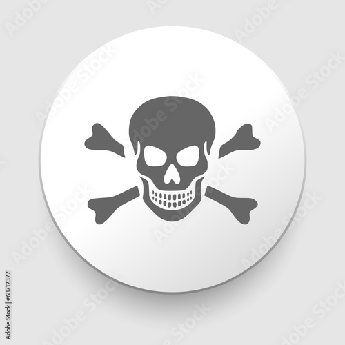Skull and crossbones - a mark of the danger Poster