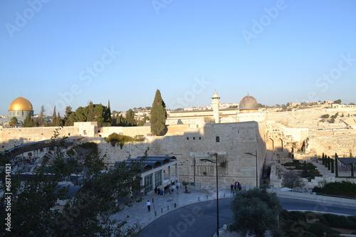 Deurstickers Midden Oosten Панорама Иерусалима
