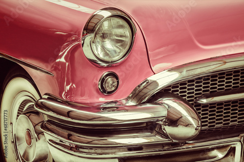 Keuken foto achterwand Vintage cars Retro styled image of a front of a classic car