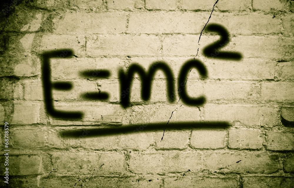Albert Einsteins Physical Formula Concept Poster