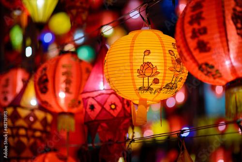 Foto op Plexiglas China Colorful International Lanterns Festival , Chiang Mai ,Thailand