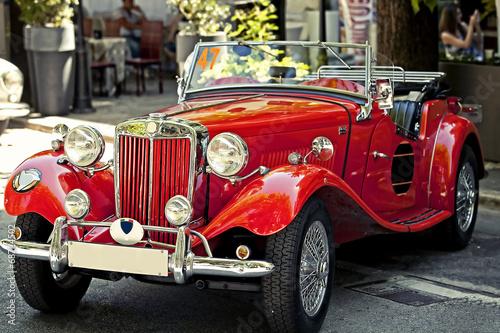 Foto op Canvas Vintage cars auto d'epoca in esposizione