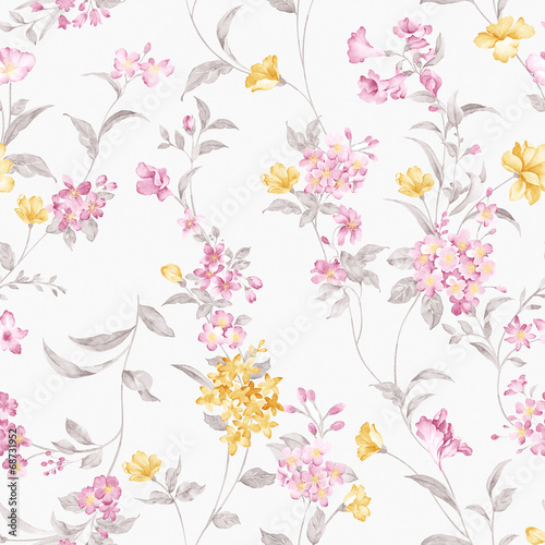 Photo Stands Vintage Flowers flowers seamless pattern background - For easy making seamless p