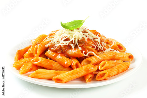 Fotografiet Penne with meat tomato sauce