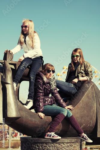 Poster Artist KB Group of teenage school girls