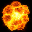 canvas print picture - fireball: explosion