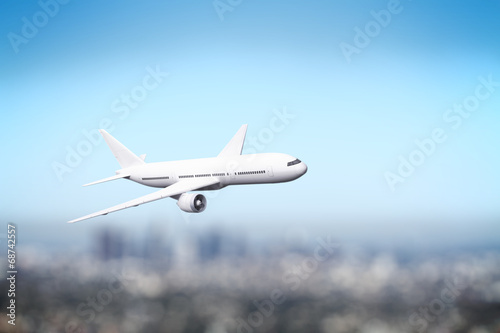 Tuinposter Vliegtuig airliner flying