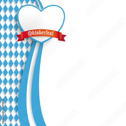 Leinwand Poster Bayerisches Oktoberfest Flyer Längliches Farben-Herz