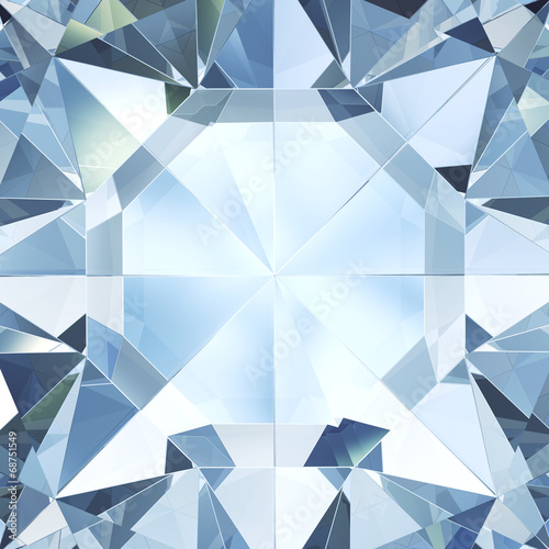 Abstract diamond facet background - computer generated