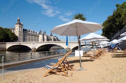 Fotografia pont et plage de Paris