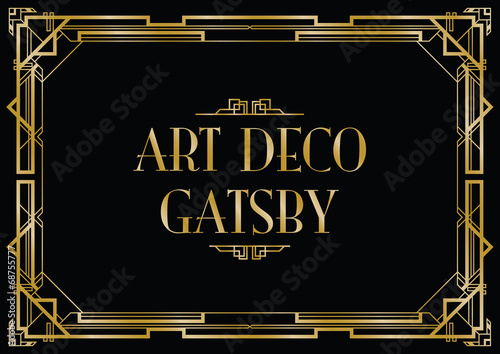 gatsby art deco background