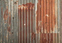 Rusty Corrugated Metal Wall Te...