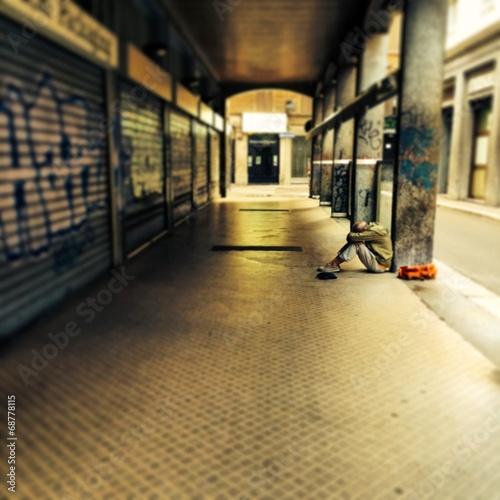 Fotografie, Obraz  emarginazione metropolitana