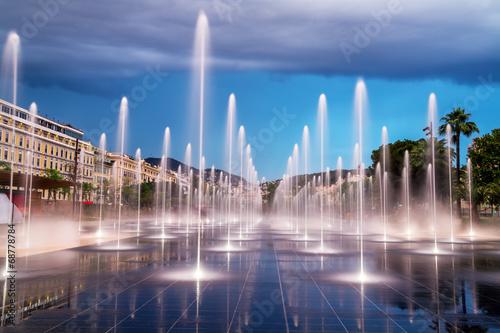 Fotobehang Nice City fountain