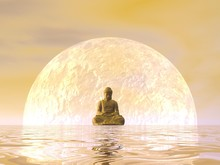 Buddha Meditation - 3D Render