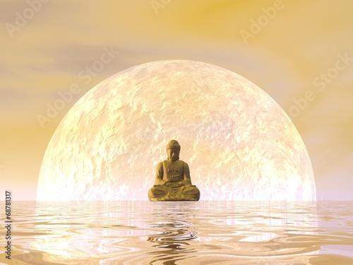 Foto op Canvas Boeddha Buddha meditation - 3D render