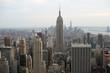Empire State building over Manhattan
