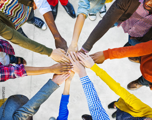 Photo  Group of Diverse Multiethnic People Teamwork