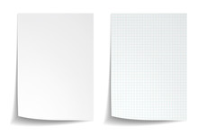 White Squared Notebook Paper O...