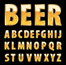 Golden Beer Letters