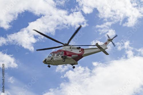 Türaufkleber Hubschrauber Hubschrauberflug