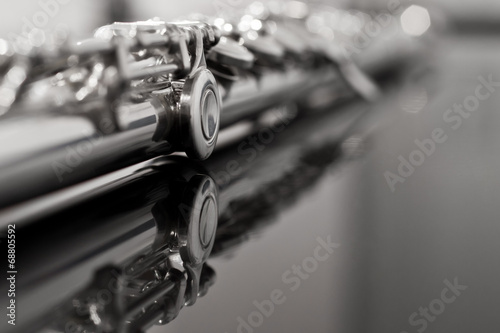 Photo Flute fragment in black and white